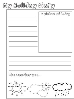 My Holiday Diary - activity pages to download and print ...