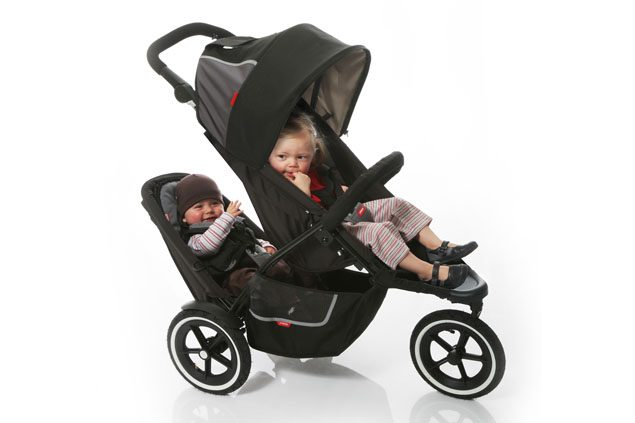Black /& Red Double your Buggy SAVE Phil/&Teds Vibe Double Kit Second Seat