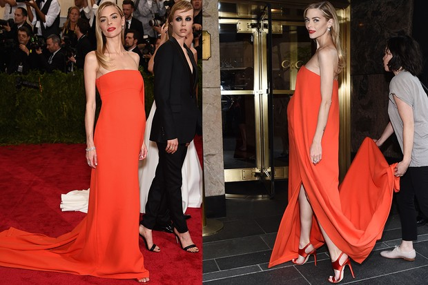 04627ddaf44 Pregnant Jaime King s show-stopping red gown at Met Gala - MadeForMums
