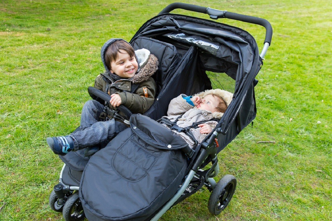 Red Kite Push Me Twini is a side by side twin buggy