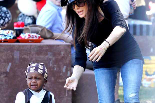 Sandra Bullock and son Louis get set for Halloween (almost ...