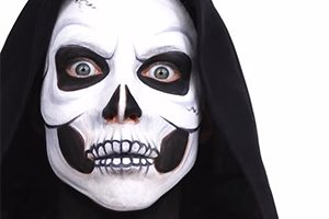 Skull Face Paint Step By Step Video Tutorial , MadeForMums
