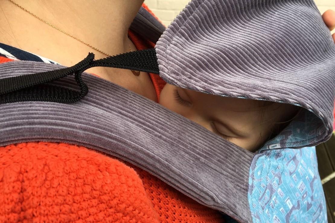 Sleepy Nico baby hood is comfortable for your little one