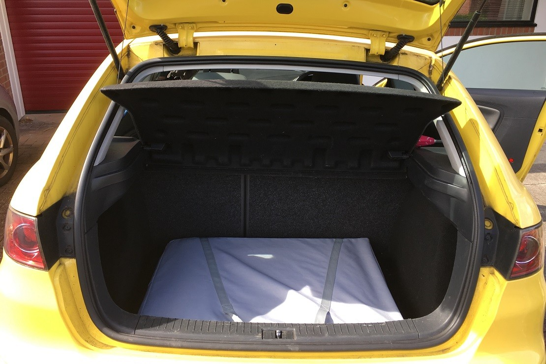 SpaceCot fits in car boot