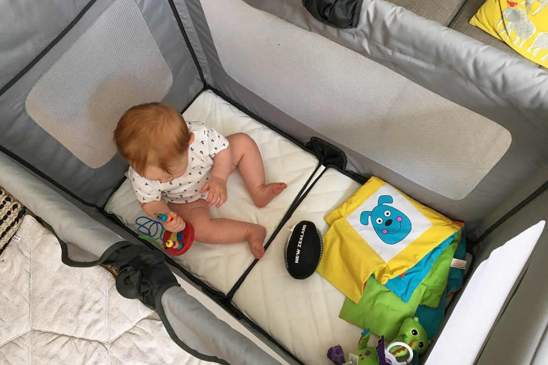 SpaceCot doubles as a playpen
