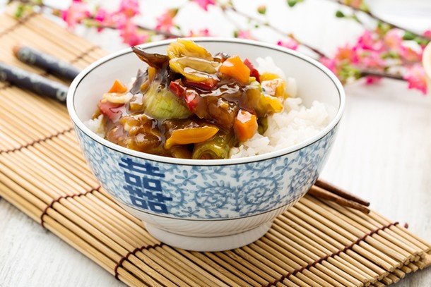 succulent-sweet-and-sour-vegetables-with-egg-fried-rice_135377