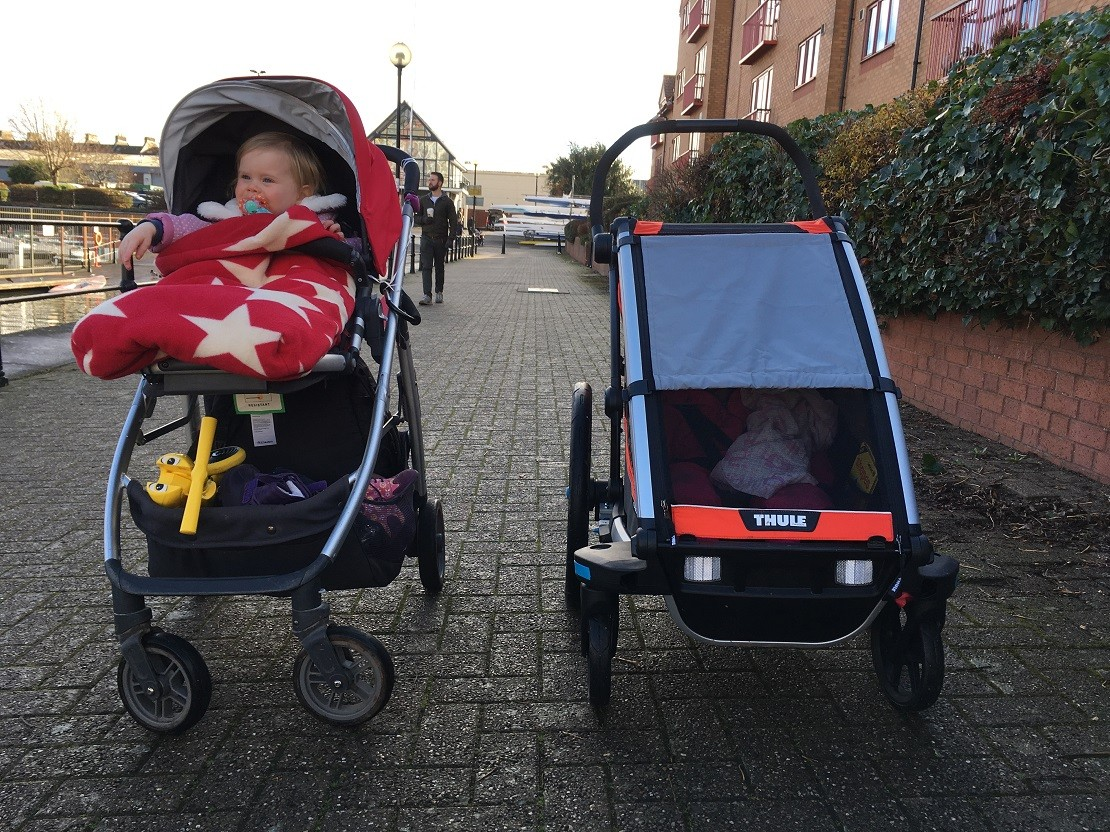 Thule Chariot Cross compared to Uppababy Cruz