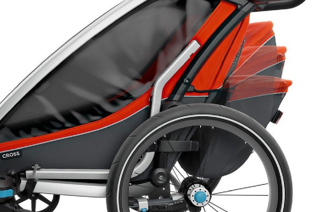Thule Chariot Cross has a large storage space