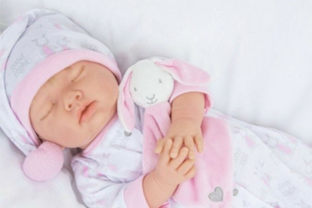 tiny treasures doll with closed eyes