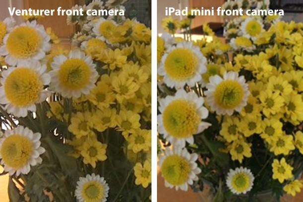 Venturer Elite S front camera vs iPad mini