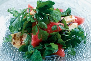 watermelon-and-herb-salad-with-grilled-halloumi_143226