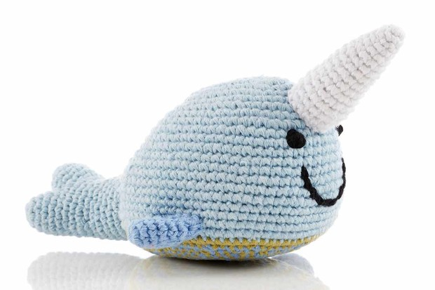 Narwhal Crochet Fair Trade Rattle