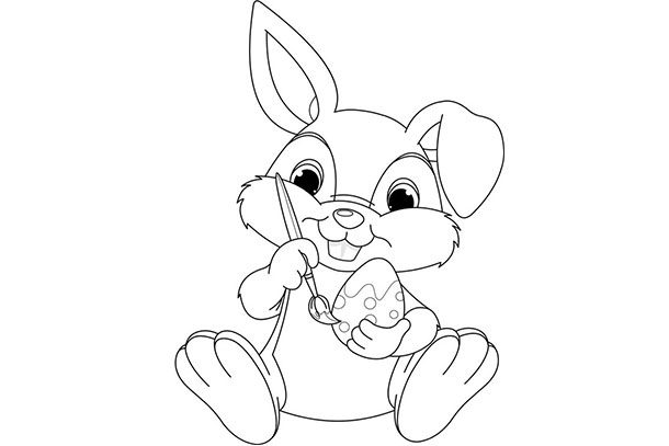 bunny, egg and chicks colouring sheets for kids madeformumspicture of bunny to colour in