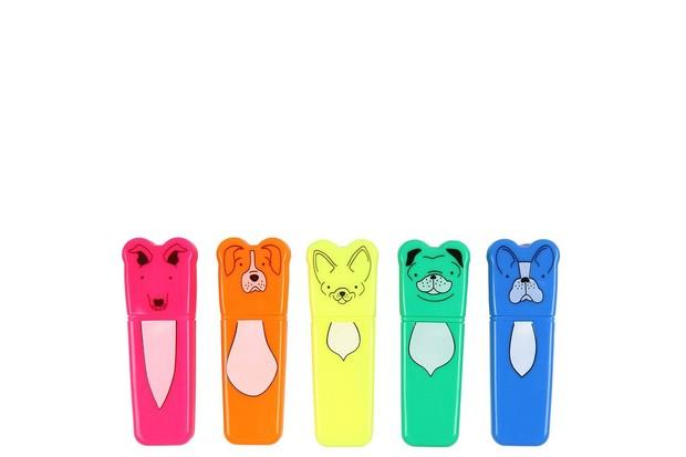 5 mini dog highlighters