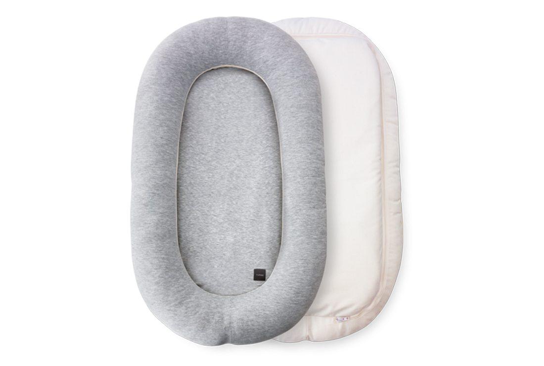 Amazing Tour Baby Sleep Pod Head Shaping Baby Nurse Pillow Sleep Pods For Newborn Sleeping Cushion Memory Foam Pillow Grey