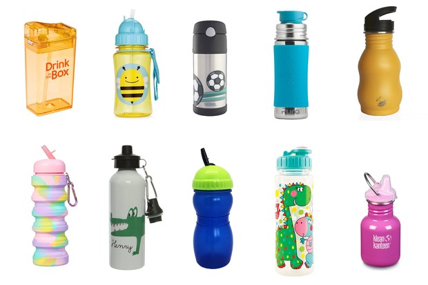 roundup of water bottles