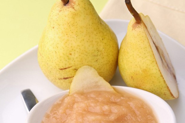 pear and rice puree