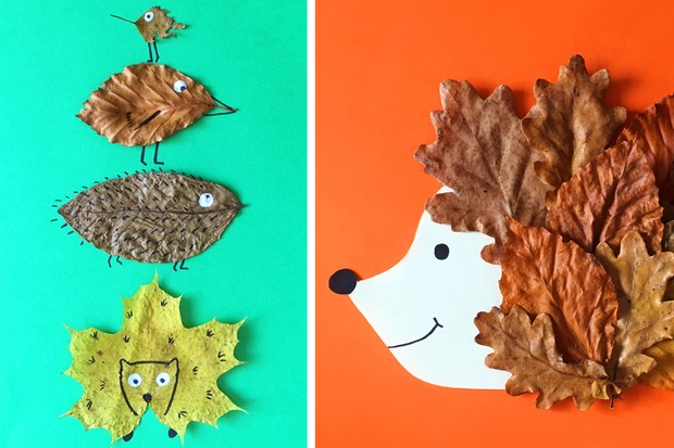 Leaf craft for pre-schoolers