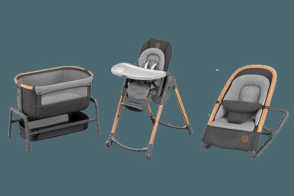 Maxi-Cosi highchair, co-sleeper and rocker
