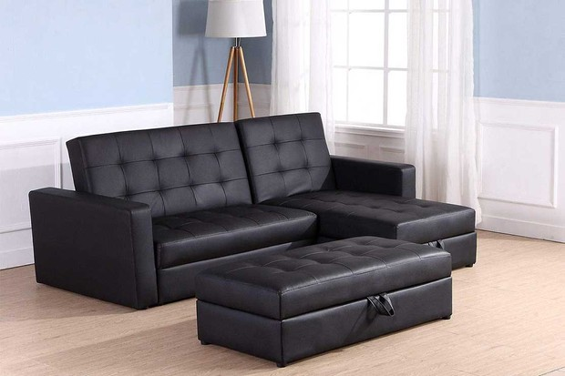 Homcom-Deluxe-Faux-Leather-Corner-Sofa-Bed