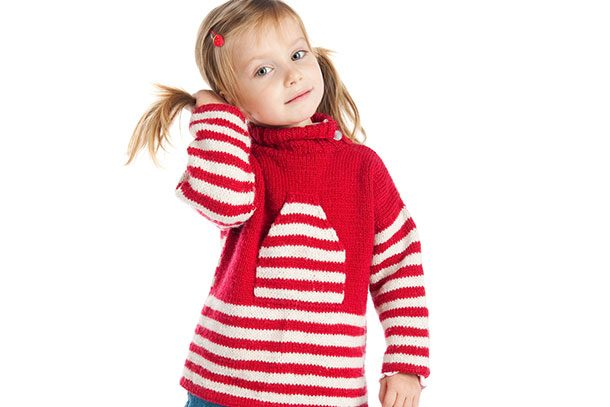 RED AND BLACK STRIPED SWEATER FANCY DRESS PARTY JUMPER PULL WORLD BOOK WEEK WARM