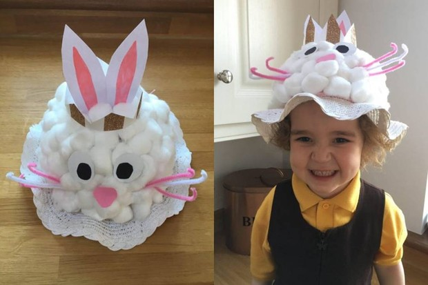 How To Make A Bunny Rabbit Easter Bonnet Madeformums