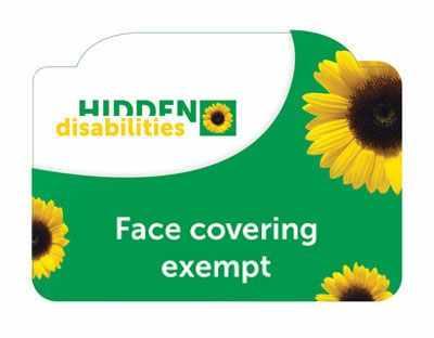 hidden disabilities face make exempt card