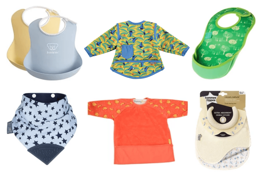 Toddler Bibs with Crumb Catcher 0-12 months 3 pk
