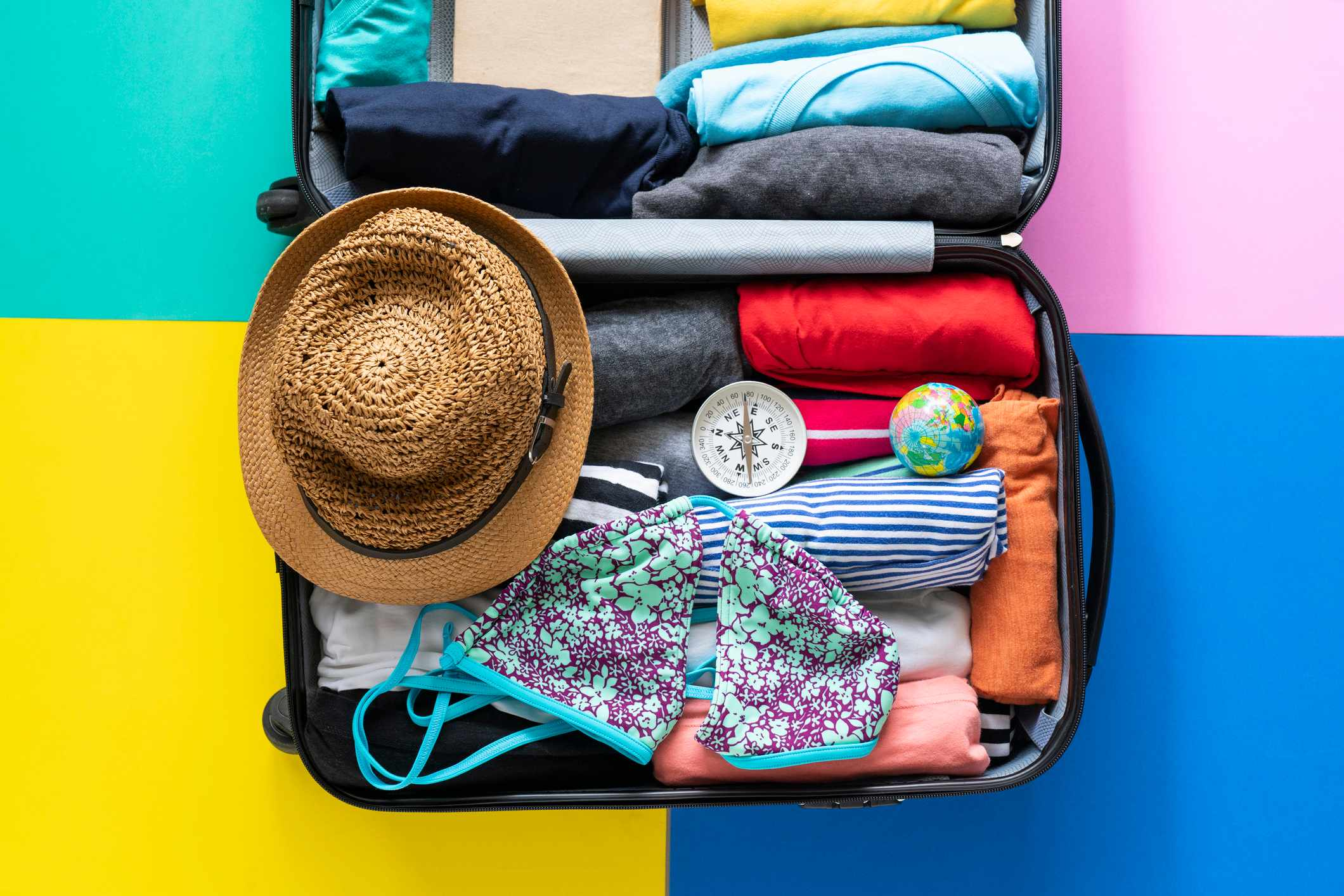 packing a luggage for a new journey and travel for a long weekend