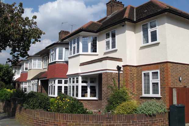 Typical houses in suburban London (Twickenham)