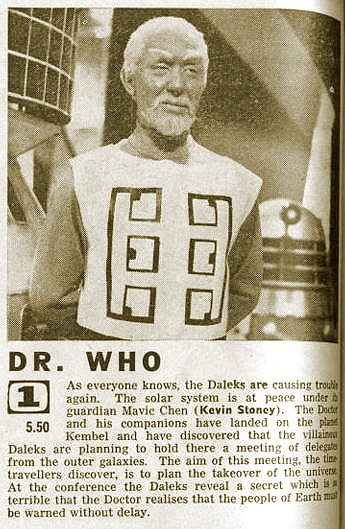 """Episode 2 (""""Day of Armageddon"""") of """"The Dalek Masterplan"""". (Only published in Editions not yet carrying BBC2 details - Northern Ireland, Scotland, North of England etc.) 20 Nov. 1965."""