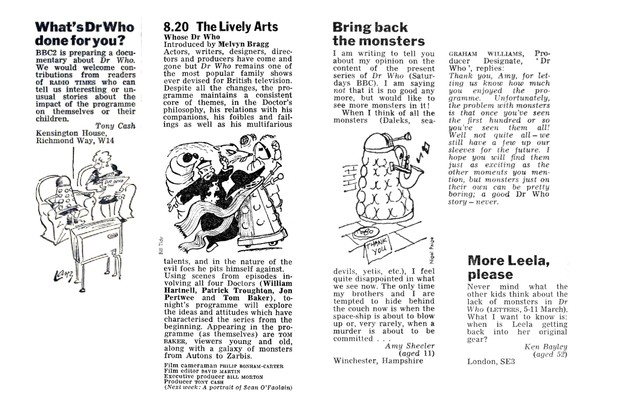 1977 letters and Lively Arts