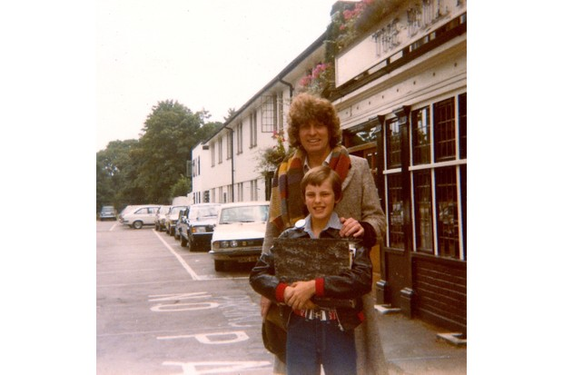 1978 Tom Baker and Patrick Mulkern in Gerrards Cross