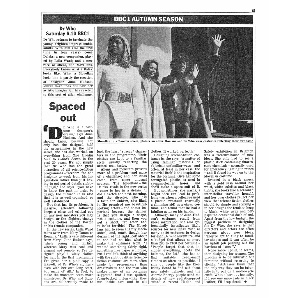 Destiny of the Daleks ep1 article