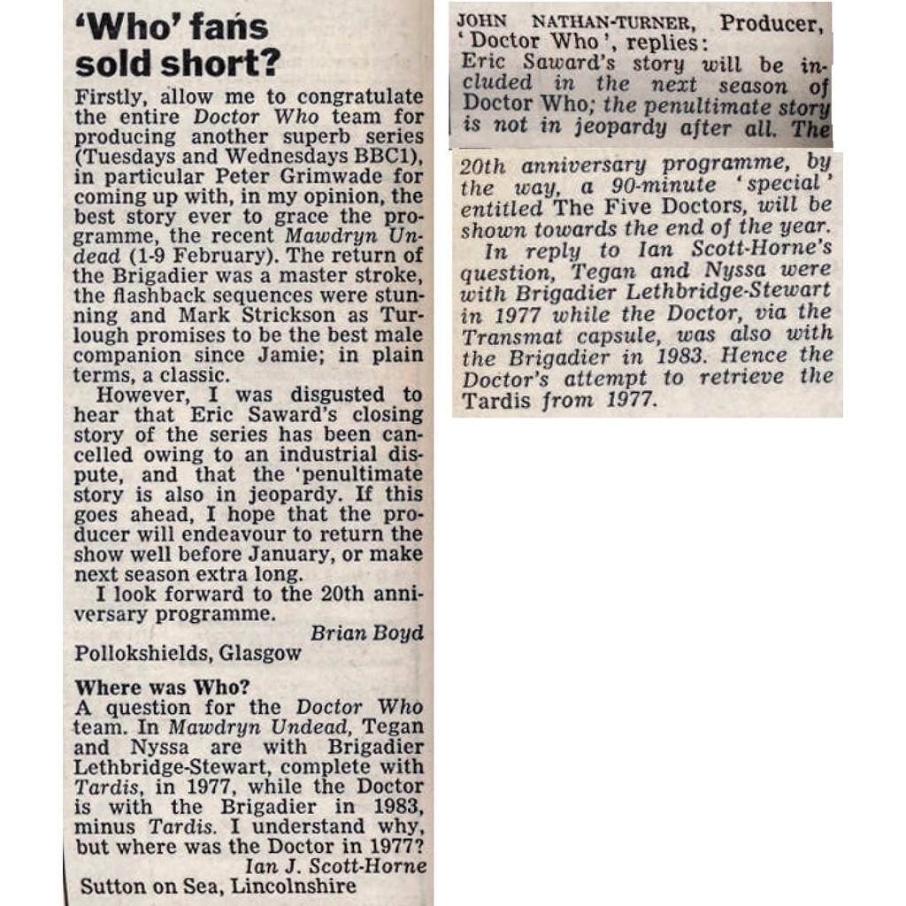 letters 26 Feb 1983