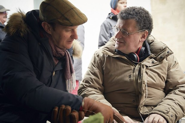 Steven Moffat and Mark Gatiss on the Sherlock set
