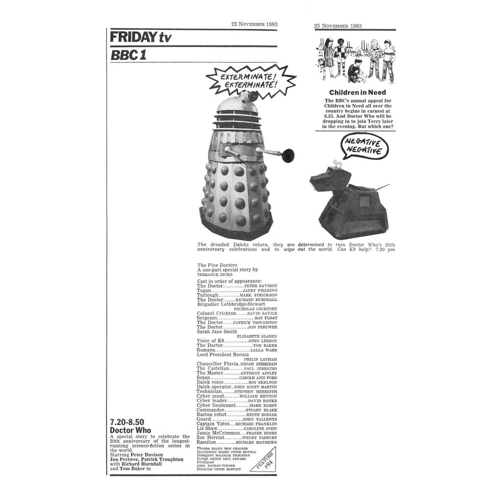 The Five Doctors RT billing