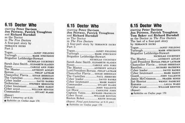 The Five Doctors rpts 2