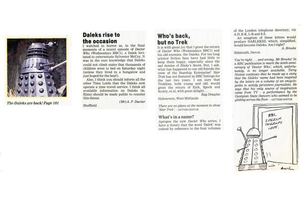 Remembrance Daleks letters