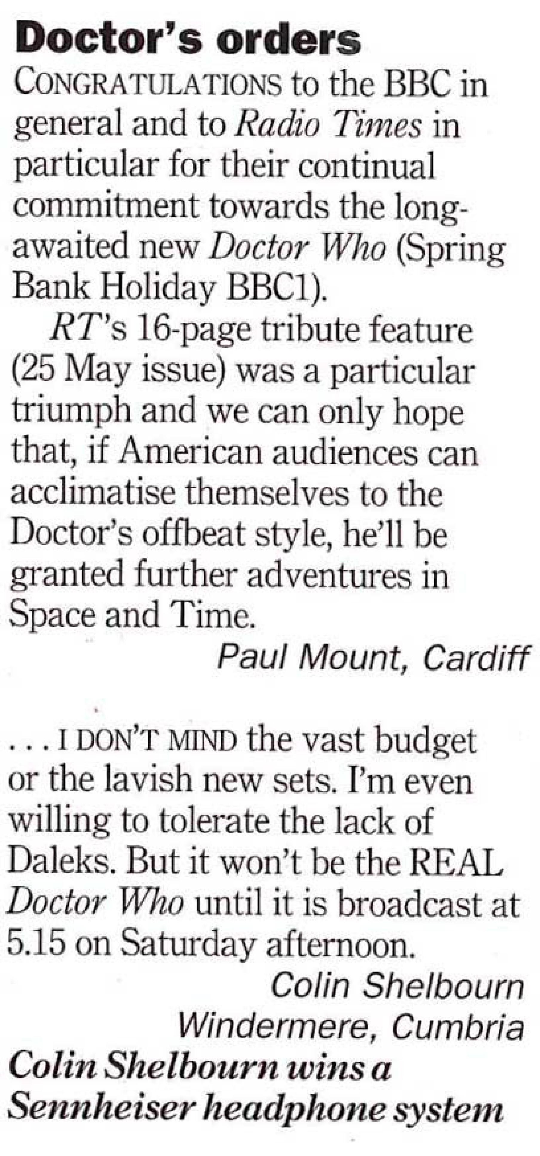 RT McGann letters 8 June 1996