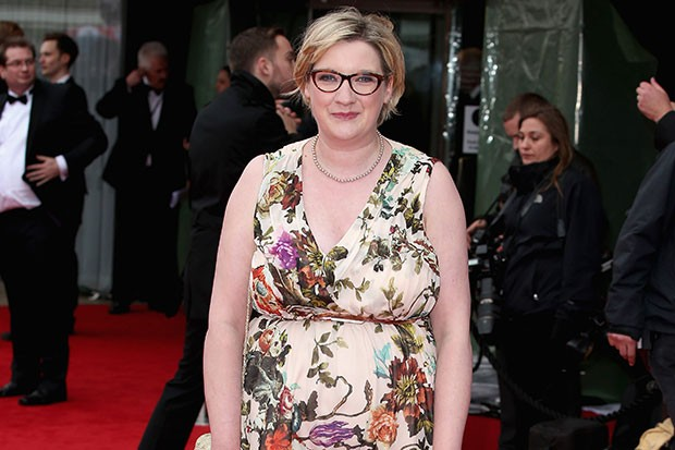 Sarah Millican on the Bafta red carpet, Getty, SL