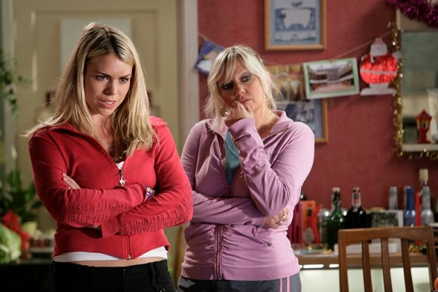Billie Piper and Camille Coduri as Rose and Jackie