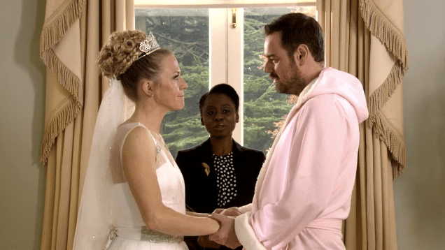 EastEnders spoilers: Mick Carter wears Linda\'s pink dressing gown to ...