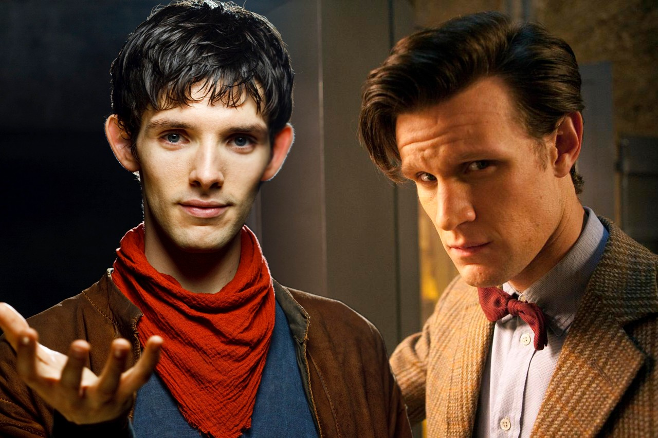Colin Morgan and Matt Smith