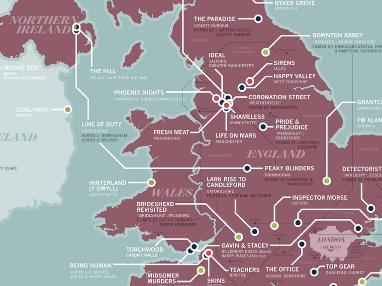 Map Of England Derbyshire.Incredible Tv Location Map Of The Uk Featuring Doctor Who