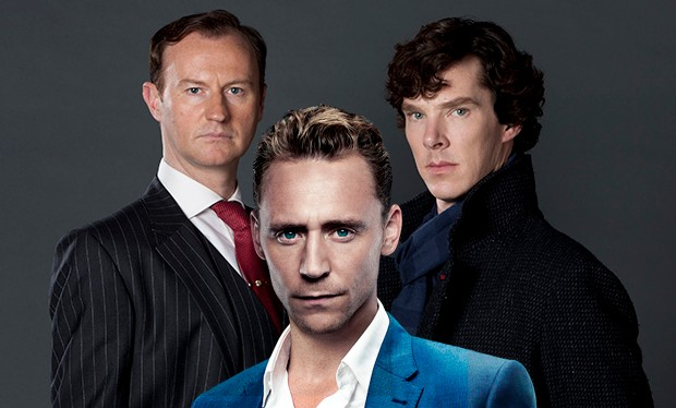Tom Hiddleston posed with the cast of Sherlock and now