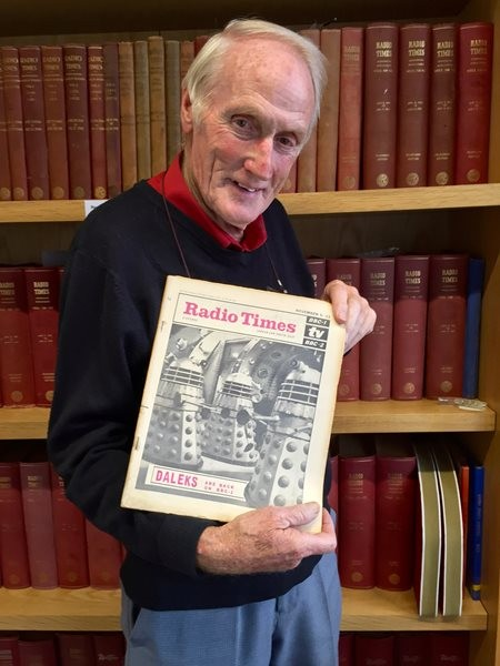 Don Smith in the RT offices in 2016 with the cover he photographed 50 years earlier.