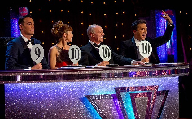 Len Goodman and the Strictly Come Dancing judging panel