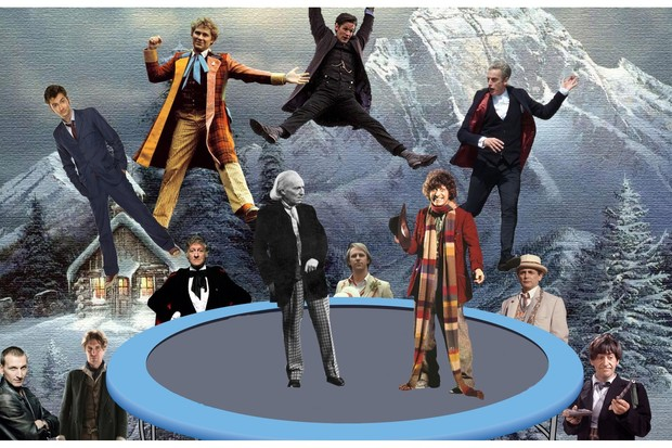 12 Time Lords leaping...at Christmas!