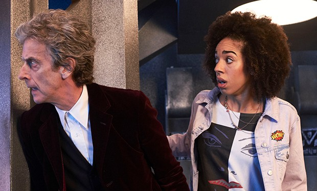 Peter Capaldi and Pearl Mackie in their first Doctor Who appearance (BBC, HF)